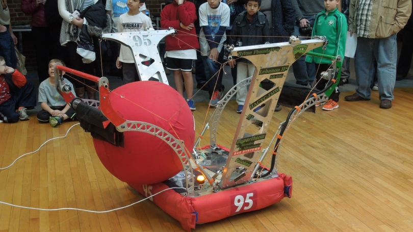 A student-built lego machine.